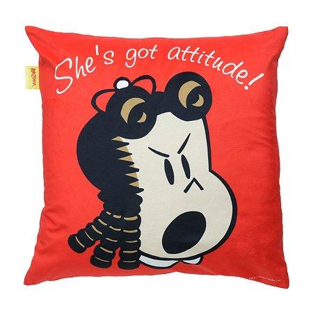 Capa de Almofada 45cm x 45cm Luluzinha - She' Got Attitude!