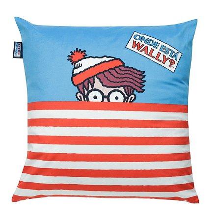 Capa de Almofada 45cm x 45cm Onde Está o Wally?