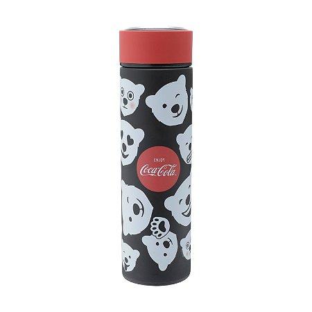 Garrafa Térmica Emborrachada 500ml Urso Coca Cola