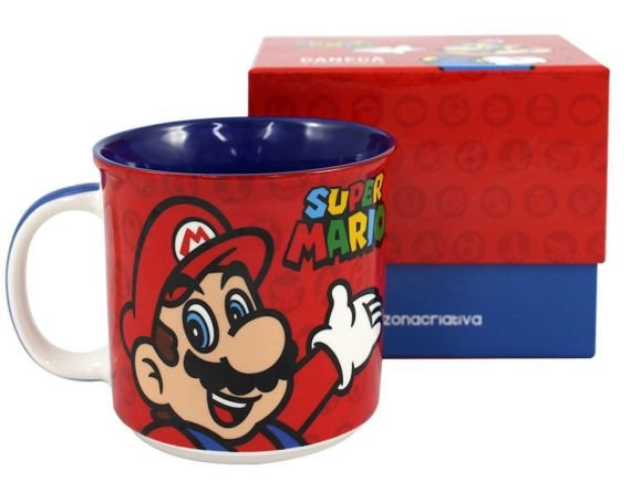 Caneca Tom 350ml Super Mario - Mario