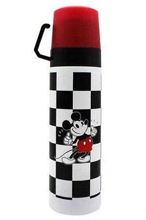 Garrafa Térmica c/ 2 Tampas Xícara Mickey - Xadrez