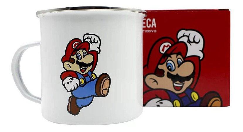 Caneca Metal Agata 500ml Super Mario - Mario