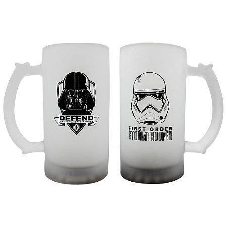 Conjunto de Canecas de Chopp Fosca 450ml Star Wars - Darth Trooper