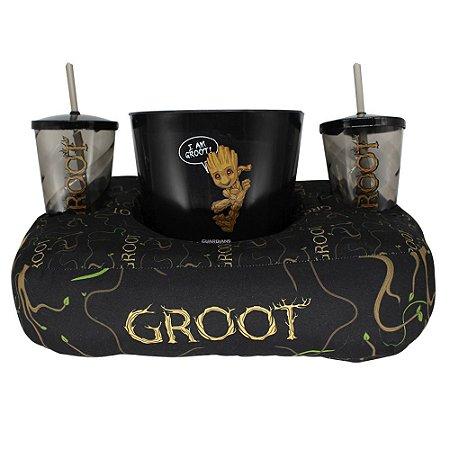 Kit Almofada de Pipoca e Copos Guardiões da Galáxia - Groot