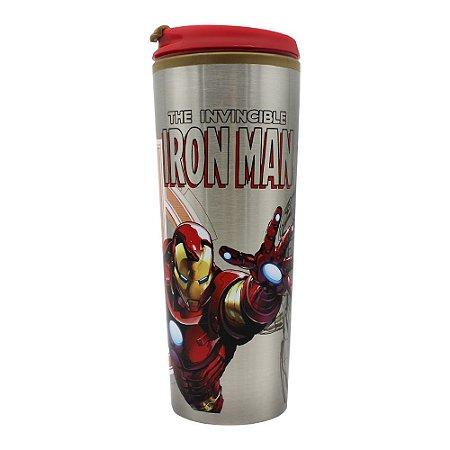 Copo para Viagem 450ml Marvel - Iron Man