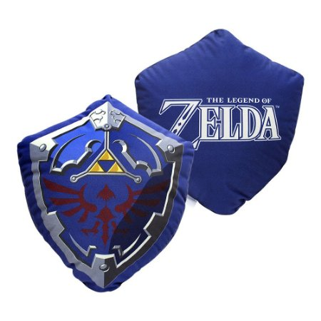 Almofada Fibra Veludo The Legend of Zelda - Escudo