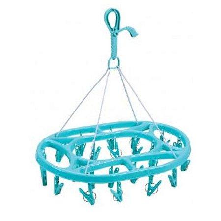 Mini Varal Oval- Azul - Mor
