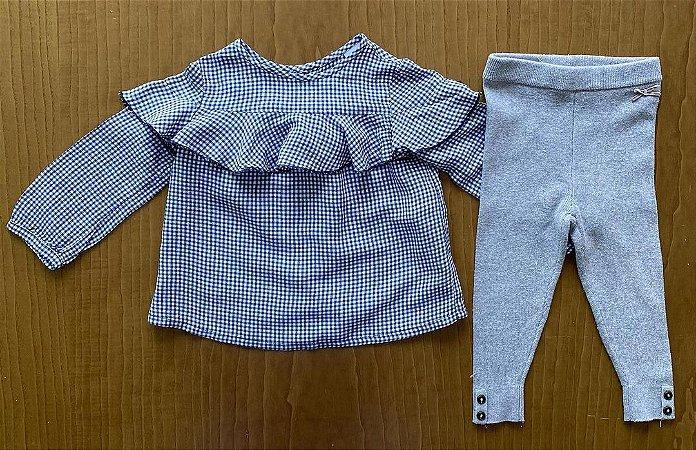 Bata Zara + Calça Importada - 9 a 12 meses