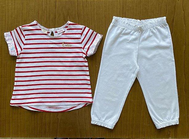 Conjunto Básica Zara + Calça Carter's - 12 a 18 meses