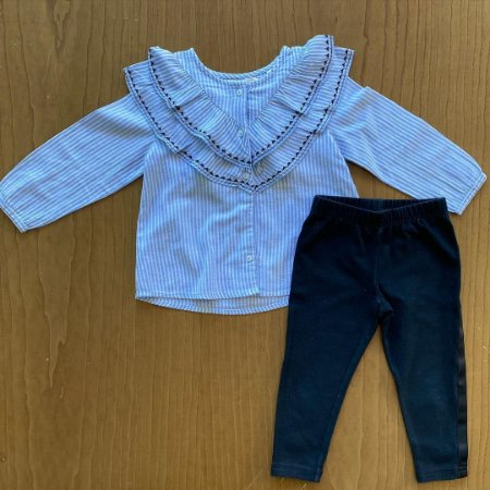 Legging Ralph Lauren + Básica Zara - 18 a 24 meses