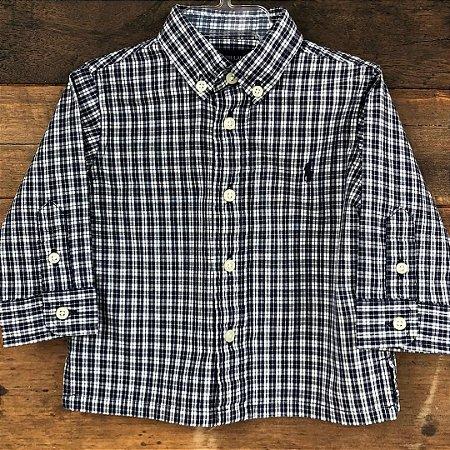 Camisa Ralph Lauren - 6-12 meses