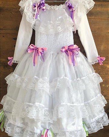Vestido junino - 6 a 7 anos