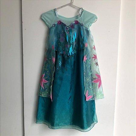 Vestido Princesa Elsa Disney - 5 a 6 anos