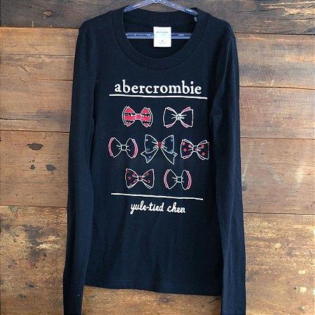 Camiseta Manga Longa Abercrombie - 8 anos