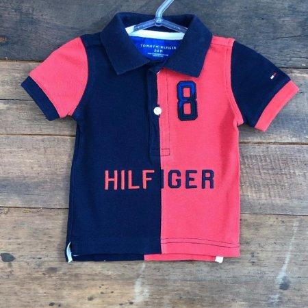 Polo Tommy Hilfiger - 3 a 6 Meses