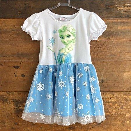 Vestido Elsa - 2 a 3 anos