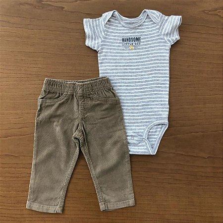 Body + Calça Carter's - 12 meses