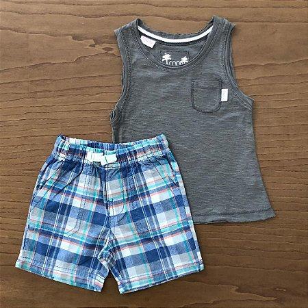 Conjunto Bermuda Carter's + Regata Zara - 6 a 12 meses