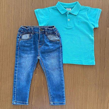 Conjunto Polo Baby Club + Calça Zara - 12 a 18 meses
