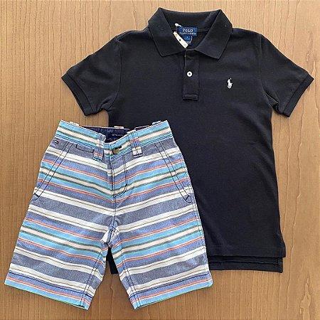 Conjunto Polo Ralph Lauren + Bermuda Tommy Hilfiger - 7 anos