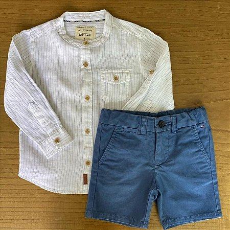 Camisa Baby Club + Bermuda Tommy Hilfiger - 2 anos