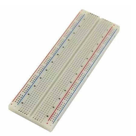 Protoboard Breadboard 830 Pontos Arduino 16 Cm X 5.5 Cm