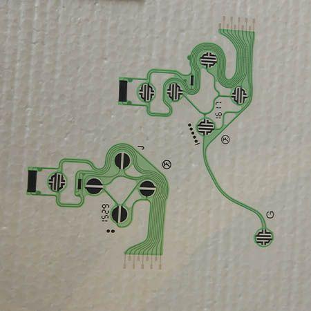 Película Placa Condutiva Original Controle Ps4 Modelo Com 2 Peças