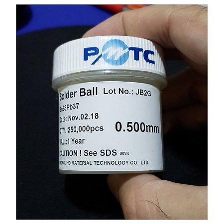 Esferas Solda Bga 0.5mm Chumbo Sn63 Pb37 250k 250mil