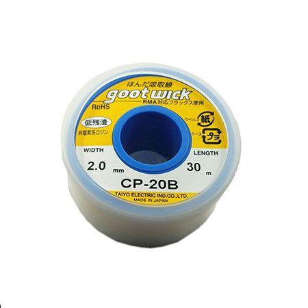 Malha Desoldadora 2.0mm X30m Goot Wick Cp-20b