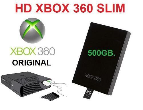 Hd 500gb Para Xbox 360 Slim Ou Super Slim Hd Interno 500 Gb original