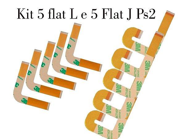 Kit  De 10 Flats  Ps2 Modelo 7000-79000 E 9000(5 de cada)