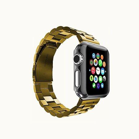 Pulseira P/apple Watch borboleta elos aço top novo 38mm 44mm