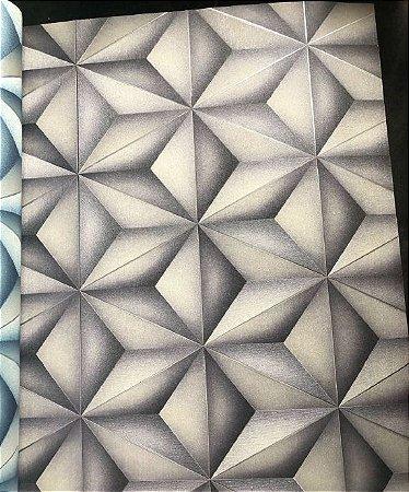 Papel De Parede 3d Vinílico Geométrico Texturizado Cinza