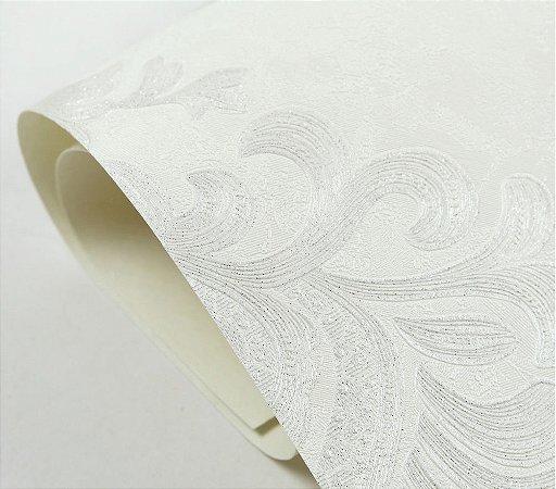 Papel De Parede Arabesco gelo 3d Texturizado 10m×53cm + Cola
