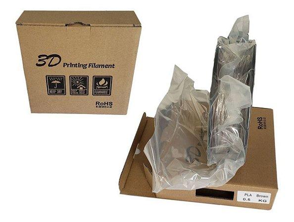 Filamento Pla 500gr 1,75mm Impressora 3d Top Premium Marrom