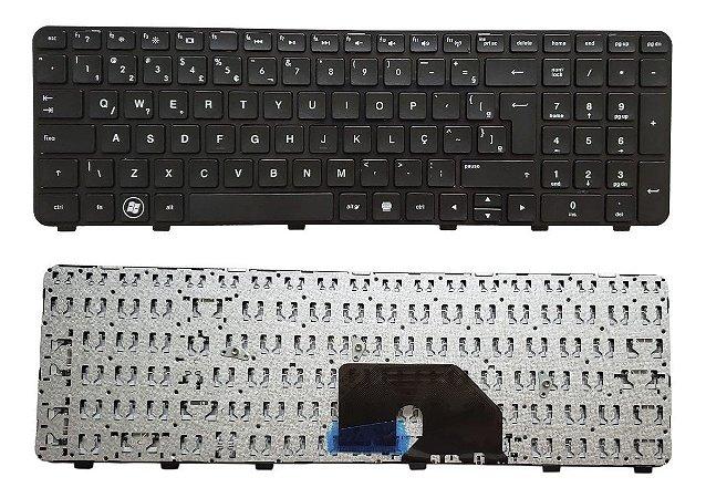 Teclado P/ Notebook Hp Pavilion Dv6-6000 Com Frame Abnt (ç)