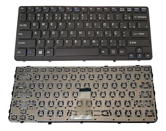 Teclado Para Notebook Sony Vaio Sve14135cxb Preto Novo 1.8m