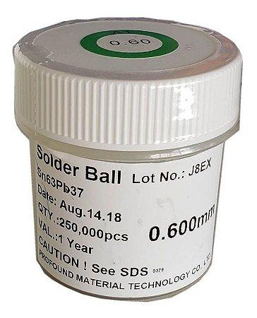 Esferas De Solda Bga Pote C/ 250 Mil 0.60 Mm