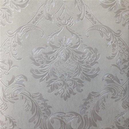 Papel de Parede Damask 3d Vinílico Lavável Texturizado