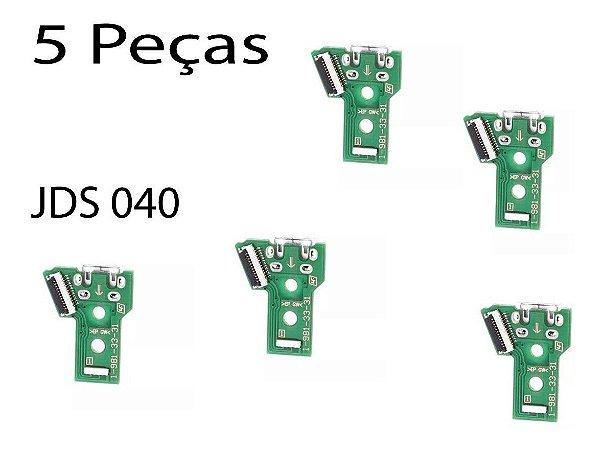 Kit Com 5 Peças Placa Usb Jds040  Carregar Controle De Ps4