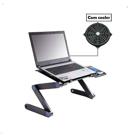 Mesa Notebook Suporte C/ Cooler Mouse Pad Articulado Laptop