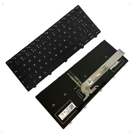 Teclado para Notebook Dell Inspiron com Iluminação 14 I14 5447 5448 5458