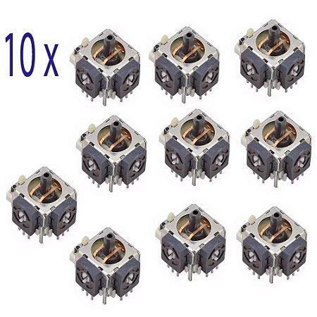 Kit 10 Pçs Analógico 3d Original Xbox 360 Controle Direcional