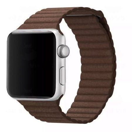 Pulseira Couro Loop Para Apple Watch 38/40mm Marrom