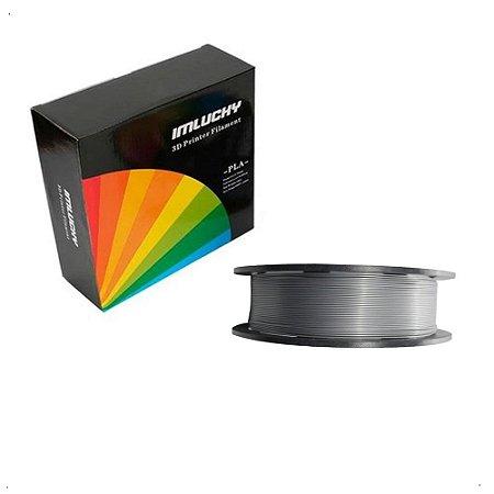 Filamento Pla Impressora 3d 1kg 1.75mm Premium Silver Prata