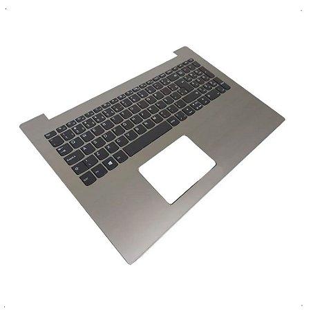 Teclado + Carcaça para Notebook Lenovo Cinza Escuro Sem Touchpad Ideapad 320-15isk