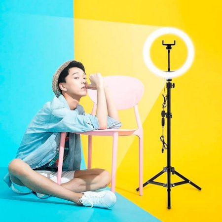 Ring Light Foto Make Youtube Profissional 35w Tripé 2,1m