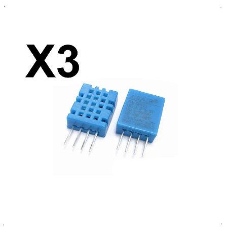 3X Sensor De Umidade Temperatura Dht11 Arduino Pic Raspberry