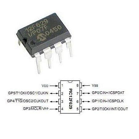Ci microcontrolador PIC12F629-I/P