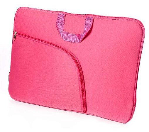 Capa para Notebook 15,6 Rosa com Bolso